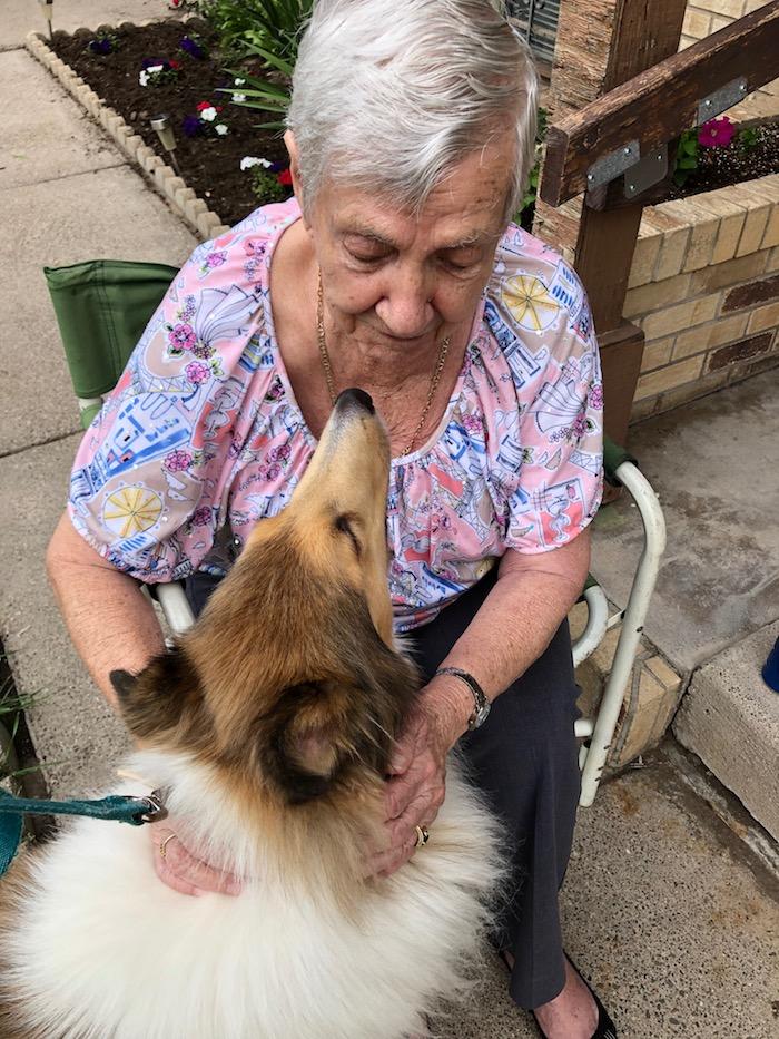 neighbor Frances kiss